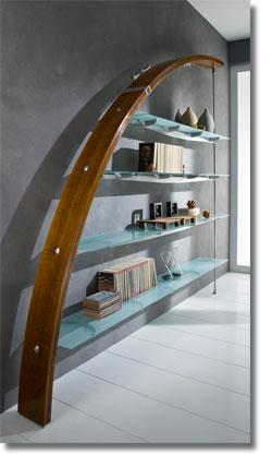 Scale su misura librerie in legno e acciaio soppalchi - Scale per librerie ...