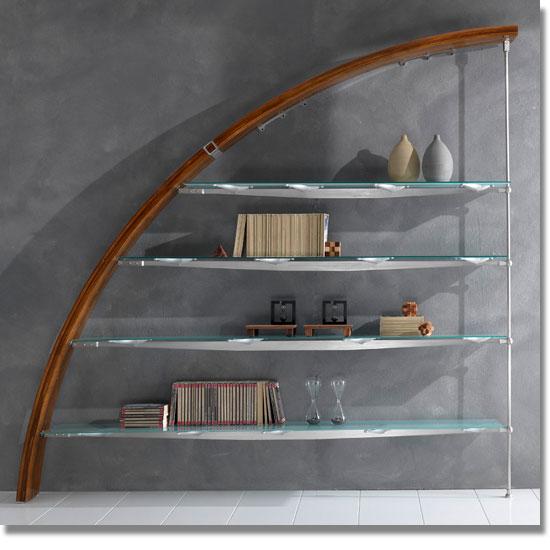 Scale su misura librerie in legno e acciaio soppalchi for Scale per librerie in legno