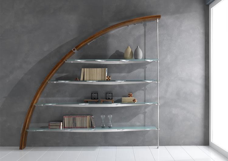 Libreria in vetro e acciaio la scelta giusta variata for Libreria acciaio e vetro