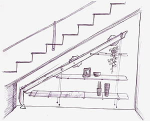 Librerie modulari scale arredo scale per interni - Scale per librerie ...
